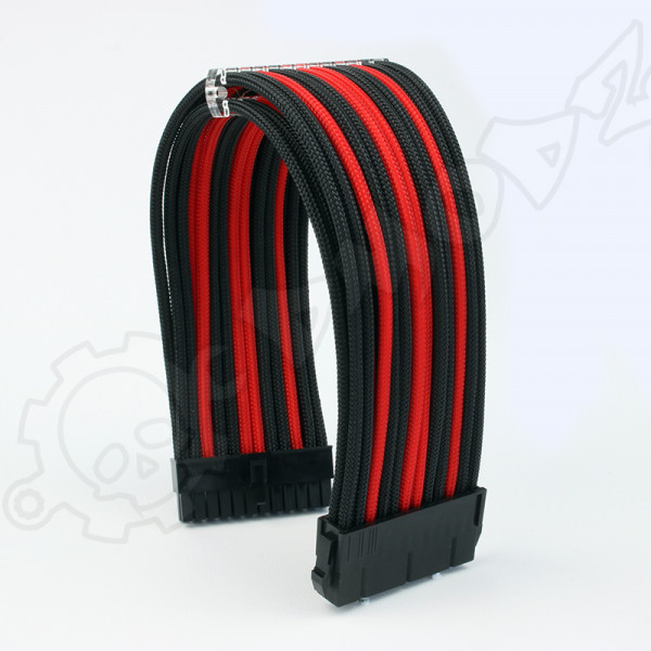 24 pin Black Red PSU ATX extension cable