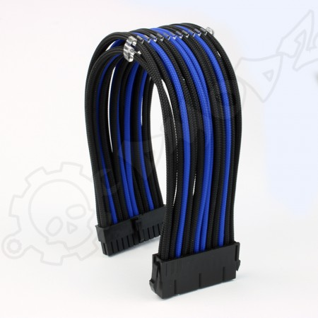 24 pin Black Blue PSU ATX extension cable