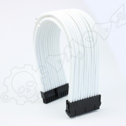 24 pin White PSU ATX extension cable