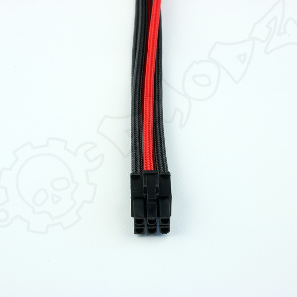 6 pin Black Red PCIE GPU extension cable