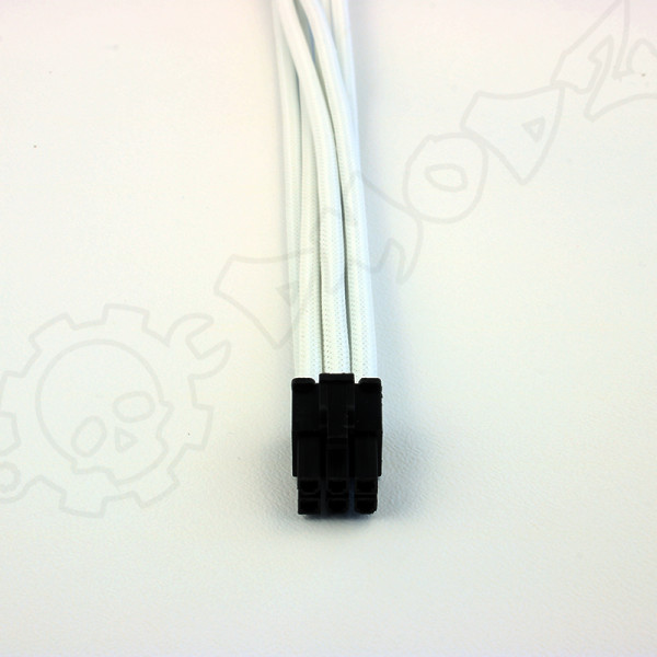6 pin White PCIE GPU extension cable