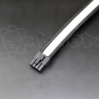 8 pin Black White GPU PCIE extension cable