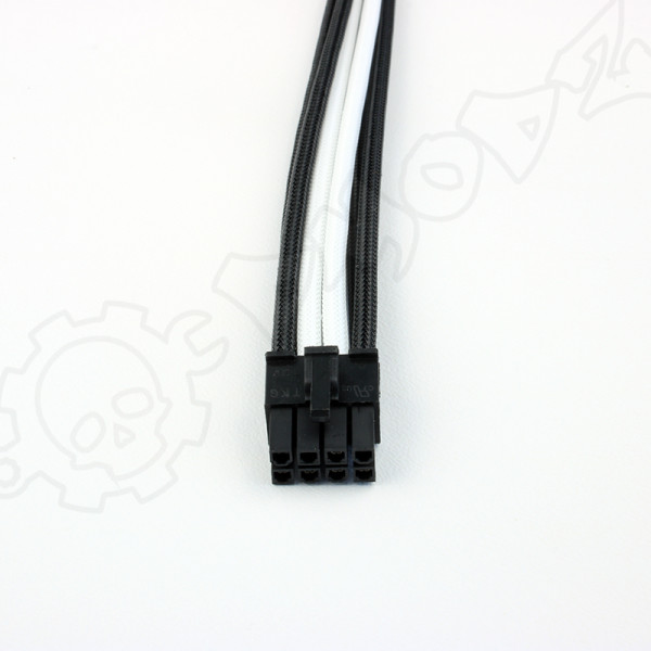 8 pin Black White EPS extension cable