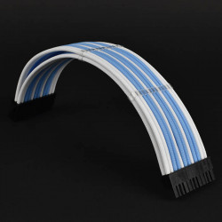 Premium PSU braided custom cable extension boxed set White blue