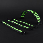 Premium PSU braided custom cable extension boxed set Black Green
