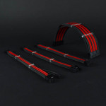 Premium PSU braided custom cable extension boxed set Red Black