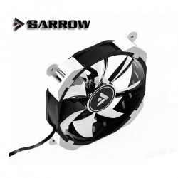 Barrow BF02-PR White RGB PMW 120mm Fan with mirrored blades