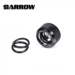 Black Barrow Compression Fitting - OD: 14mm Rigid Tubing - Barrow Watercooling