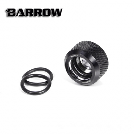 Black Barrow Compression Fitting - OD: 16mm Rigid Tubing - Barrow Watercooling
