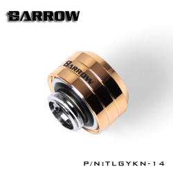 8 Pack Gold Barrow Compression Fitting 14mm TLGYKN-14