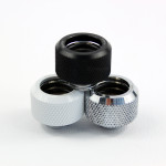 Silver Barrow Compression Fitting - OD: 14mm Rigid Tubing - Barrow Watercooling TFYKN-T14
