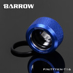 Blue Barrow Compression Fitting - OD: 16mm Rigid Tubing - Barrow Watercooling TFYKN-T16