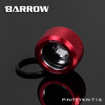 Red Barrow Compression Fitting - OD: 16mm Rigid Tubing - Barrow Watercooling TFYKN-T16