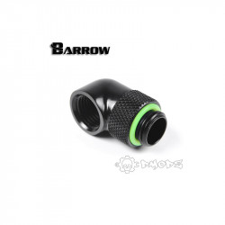 "Barrow G1/4"" 90 Degree Rotary Adaptor Fitting - Black - Barrow Watercooling - TWT90-v2.5"