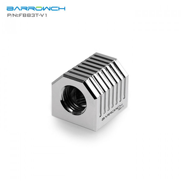 Barrow FBB3T-V1, Silver Cubical 3-Way Adapter