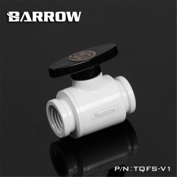 "Barrow White Ball Valve G1/4"" - Barrow Watercooling"