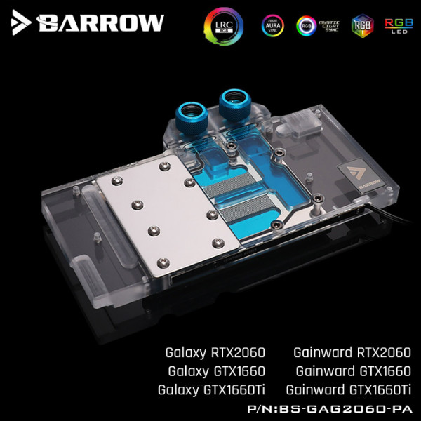 Barrow GALAXY GPU waterblock RTX2060/GTX1660 Aurora BS-GAG2060-PA LRC2.0 RGB
